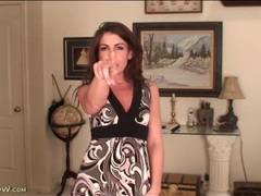 Milf tease annabelle genovisi in a cute dress videos