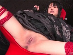 Speculum opens pussy of bound japanese girl tubes at lingerie-mania.com