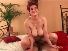 Mature redhead with a fat ass rides a dick videos