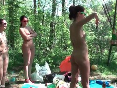 Naked girls drink and hang out in the woods movies at freekiloporn.com