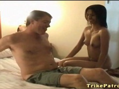 White guy lies back for a sexy asian blowjob movies at find-best-hardcore.com