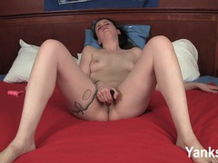 Tattooed molly fingering and toying her pussy videos