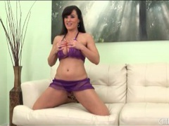 Purple lace holds the big tits of lisa ann movies