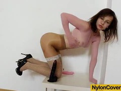 Skinny emma diamond nylon mask on her face movies at find-best-pussy.com