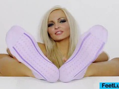 Sexy blonde nicky angel incredible feet videos