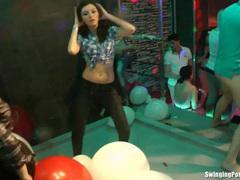 Bisexual sluts fucking in club movies at sgirls.net