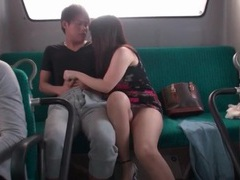 Blowjob on public bus from japanese girl videos