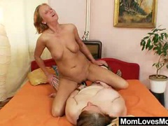 Extremely unsatisfied amateur housewives gets lesbian videos