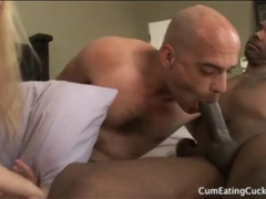 Cuckold sucks black cock fresh from his lady videos