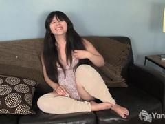Sexy asian hermine toying her delicious muff tubes at asian.sgirls.net
