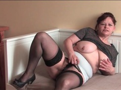 Hairy milf with curves masturbates sensually videos