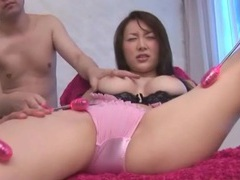 Busty girl in pink lingerie groped by guys tubes at japanese.sgirls.net