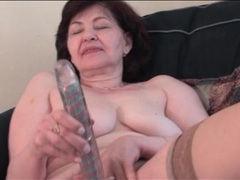 Dildo fucks hairy granny pussy solo movies at find-best-videos.com