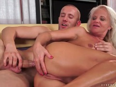 Blonde mature screwed up the ass doggystyle movies at freekiloclips.com