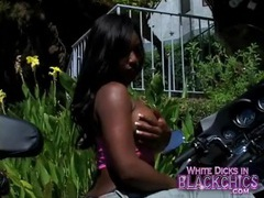 Jada fire shows off her big black tits movies at lingerie-mania.com