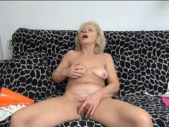 Sexy mature fondles tits and masturbates videos