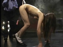 Major wedgie for japanese girl in bondage tubes at japanese.sgirls.net