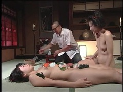 Kinky food play in his japanese fantasy video videos