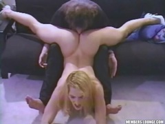 Flexible hot blonde gets her pussy eaten lustily videos