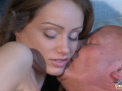 Teeny blonde sucking old prick for cum videos