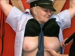 Chained up granny sub fondled in dungeon videos