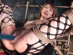 Fishnets and bondage on hot wax girl movies at kilotop.com