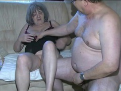 Old dick sucked by young lady and fucking granny videos