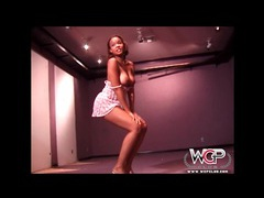 Black girl sizzles in high heels and lingerie movies at sgirls.net
