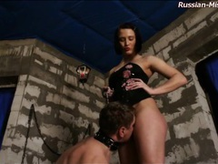 Mistress abuses him beautifully in dungeon movies at sgirls.net