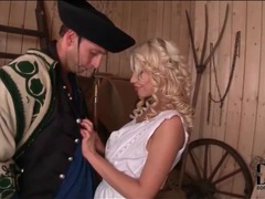 Sexy farmgirl with curly blonde hair licked movies at kilomatures.com