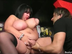 Fat slut fingered in the bar videos