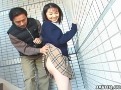 Schoolgirl seire mochizuki gets kinky on the street. videos