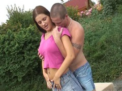 Young busty claire 69ing outdoors videos