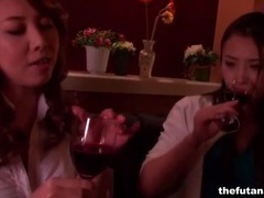 Japanese girls drink wine and make out videos