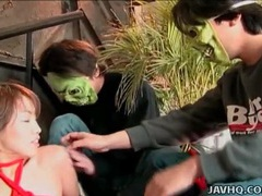 Tied up japanese chick groped by guys tubes at japanese.sgirls.net
