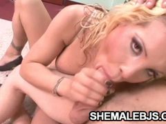 Liz cordoba - cock starved shemale feasting on a pulsating pecker tubes