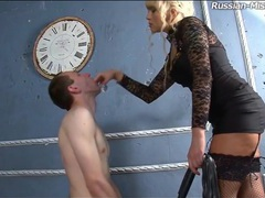 Milf humiliates him and pisses on his face movies at lingerie-mania.com