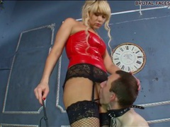 Slave licks mistress asshole and pussy movies at freekilosex.com