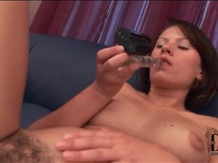 Dildo slides into hairy cunt of ansie rocher movies at freekilosex.com