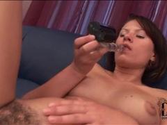 Dildo slides into hairy cunt of ansie rocher movies at sgirls.net