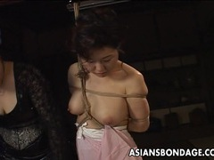 Asian babe in rope bondage scene videos