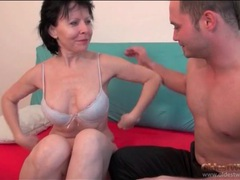 Mature sucks and sits on young man dick videos
