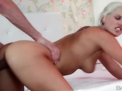 Cock taking chick takes load on her ass videos