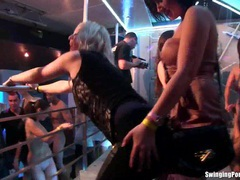 Sexy lesbians dancing in club movies at freekiloclips.com