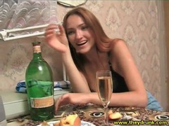 Drunk young russian beauty in black bra movies at kilotop.com