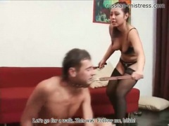 Put on a leash by a pretty girl to worship movies at sgirls.net