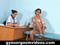 Lesbian doctor and sexy patient movies at lingerie-mania.com