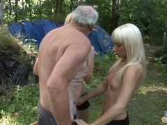 Old woodcutter fucks 2 horny blondes videos