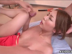 Sporty girl yume kimino fucked by two guys videos