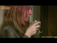 Redhead gets drunk and pukes in the toilet movies